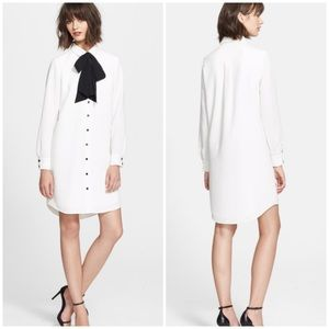 NEW Kate Spade NY  'Griffin' Silk Tie Shirtdress